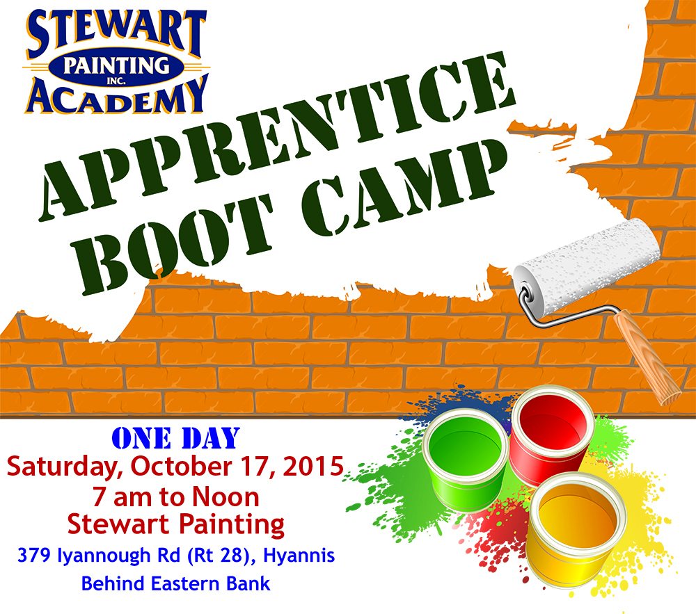Stewart painting academy one day apprentice boot camp for 1 day paint