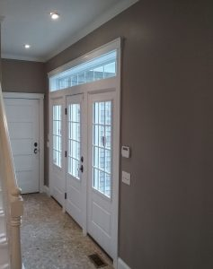 Entryway painted