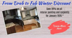 Drab to Fab Save 20% on interior painting for January 2020