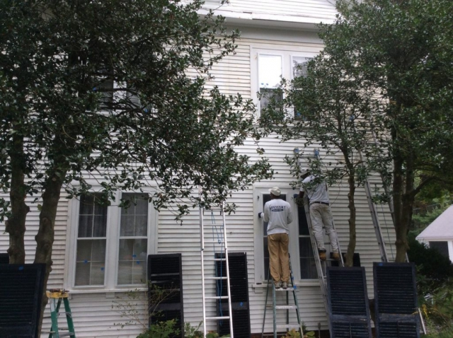 Exterior Painting Residential Home Corner Center 6A Yarmouth port