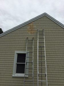Removed vent and added shingles