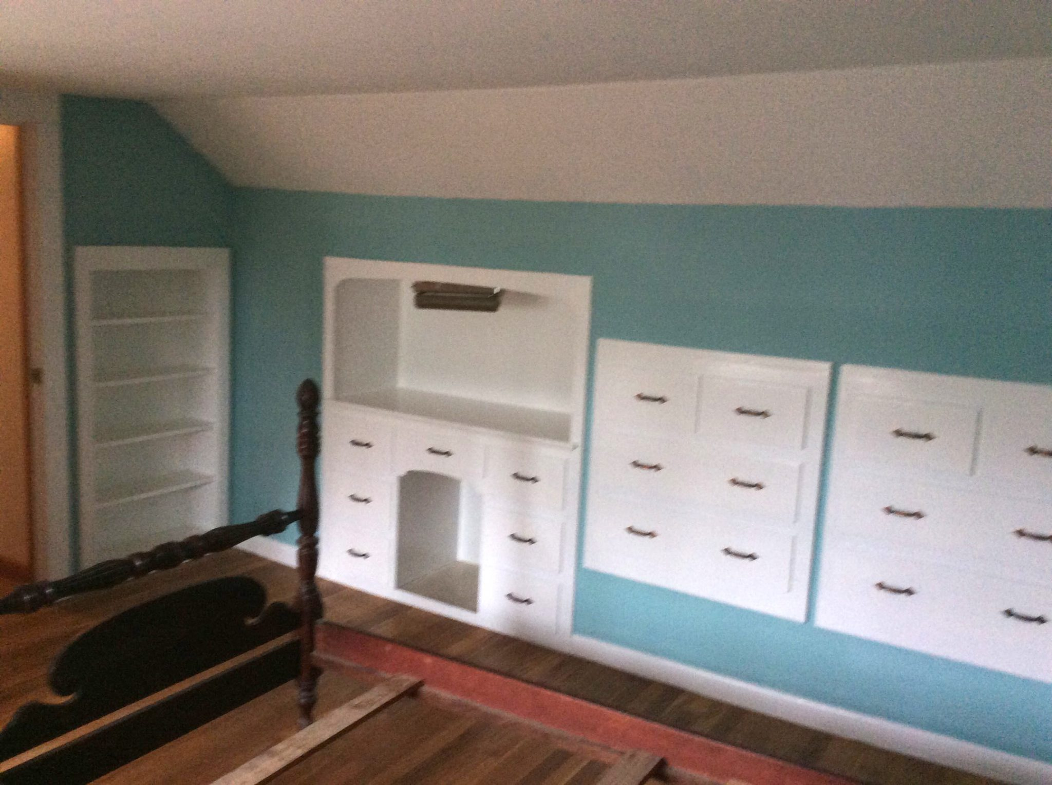 Built Ins after new paint in Barnstable -After