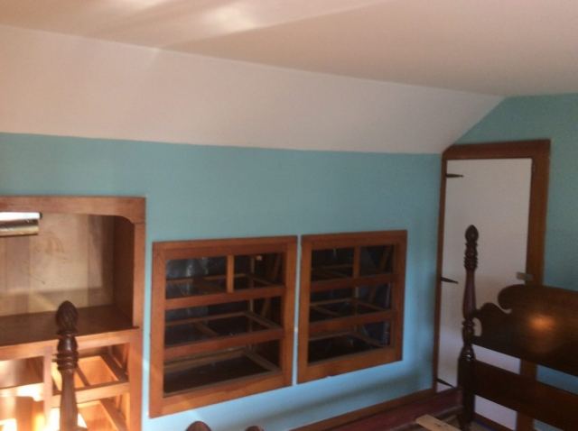 Built Ins prior to new paint in Barnstable-Before