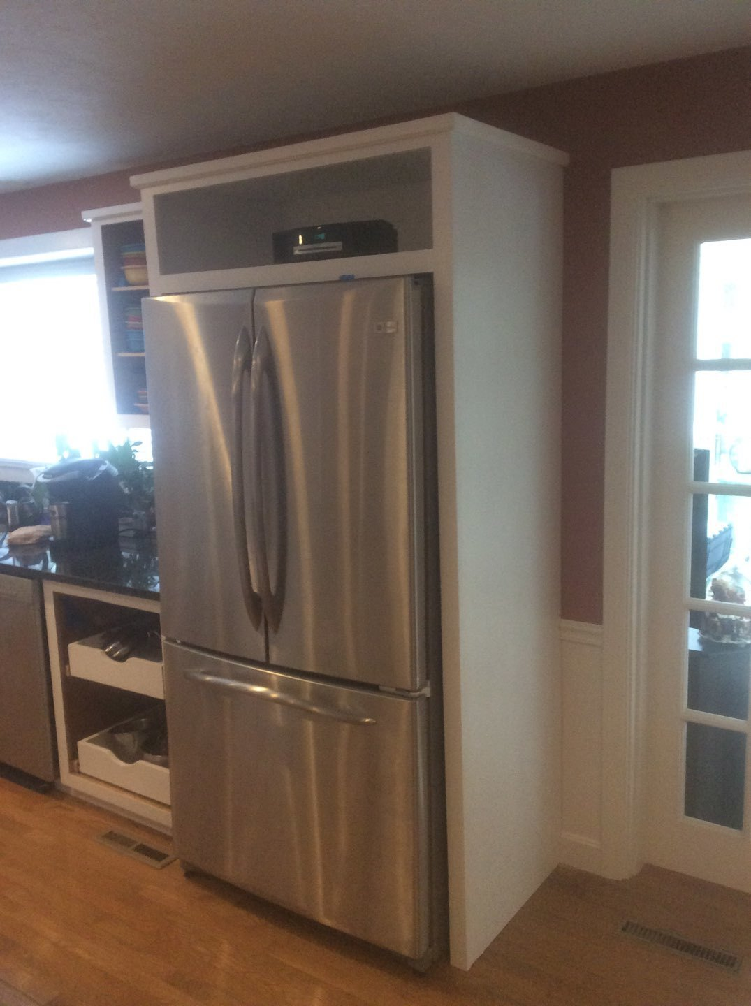 Kitchen Cabinet Installed and Painted in Cotuit