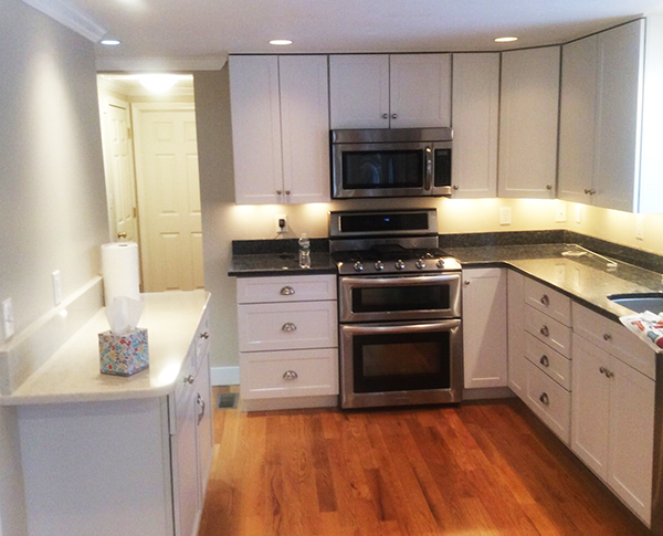 Kitchen Cabinet Refinish in Yarmouth