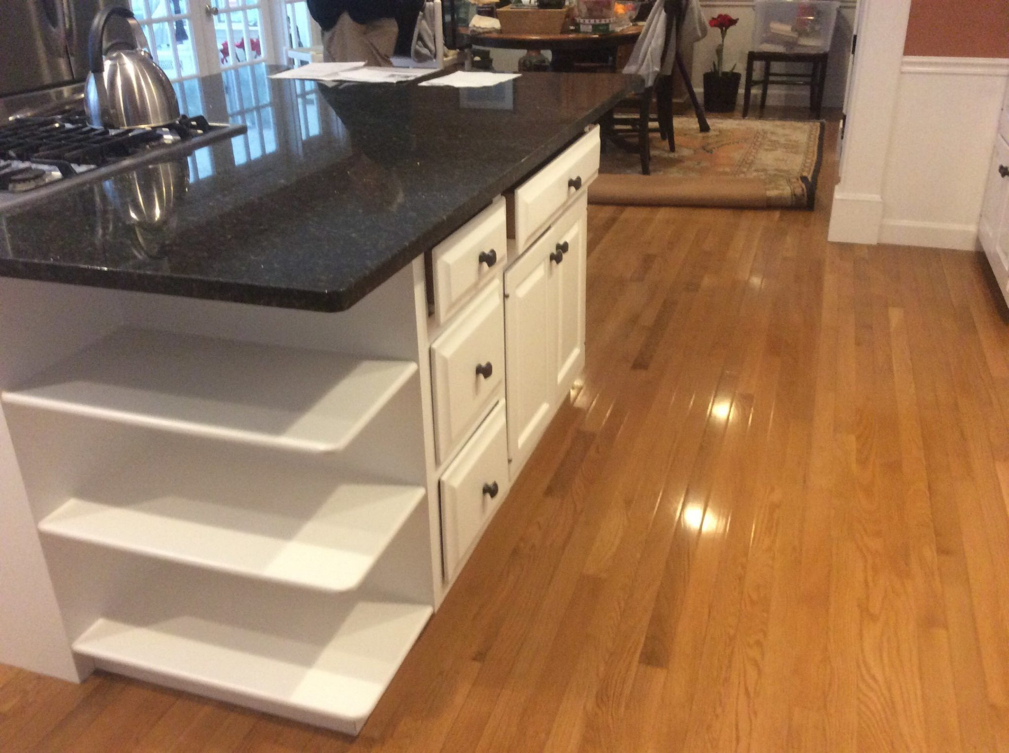 Refinished Kitchen Cabinet with Drawers in Cotuit
