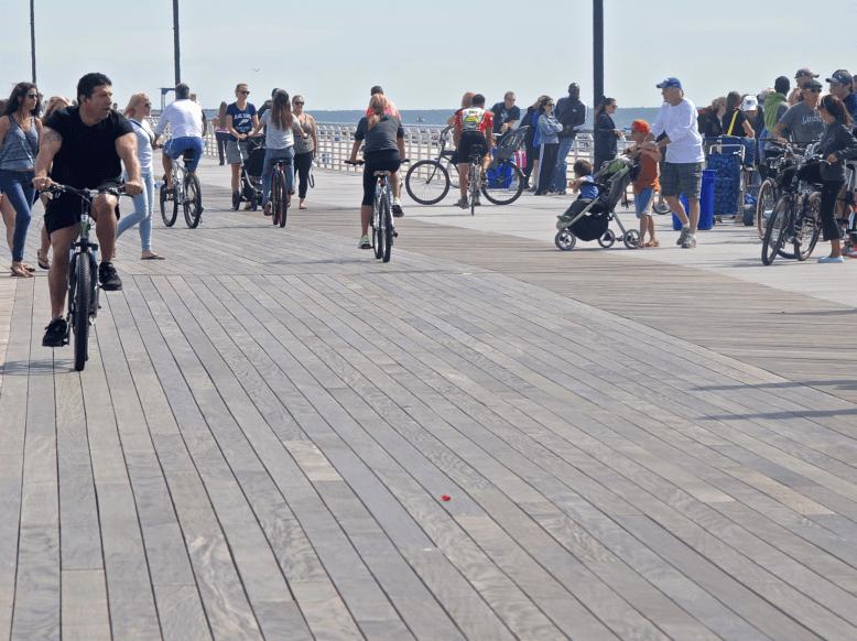 Ipé wood on the NJ boardwalk. Photo: NY Patch