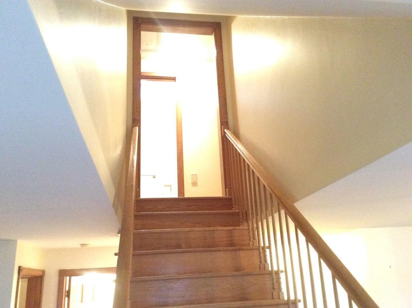 Stairway Painted After Wallpaper Removal in Eastham