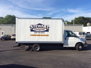 Stewart Painting Employees Carpentry Division Truck