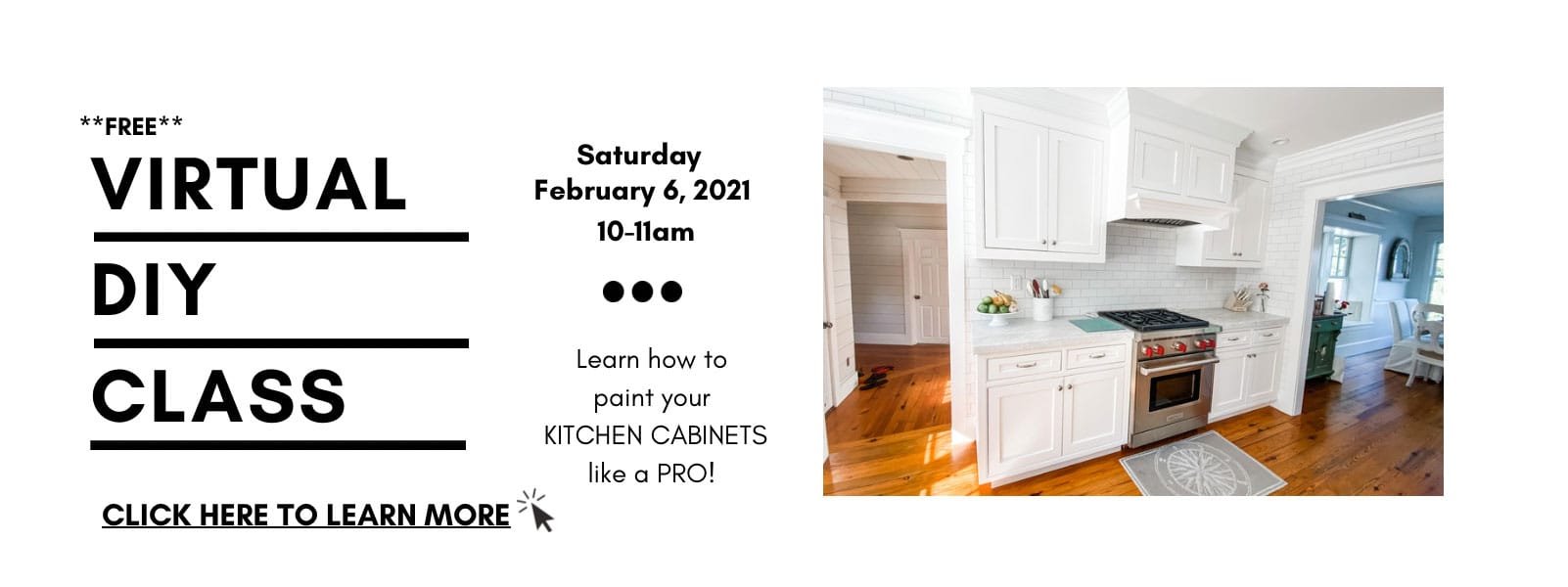 Upcoming Class: Learn to Paint your Kitchen Cabinets