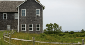Cape Cod home with shingles